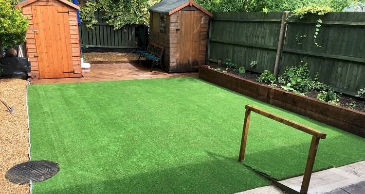 Artificial grass installation10