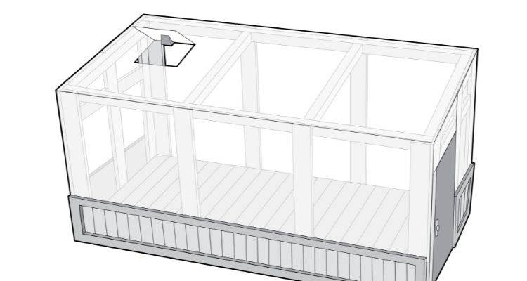 how to build a greenhouse step 9