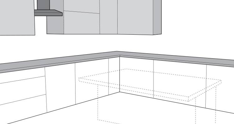 how to build a kitchen island step 1