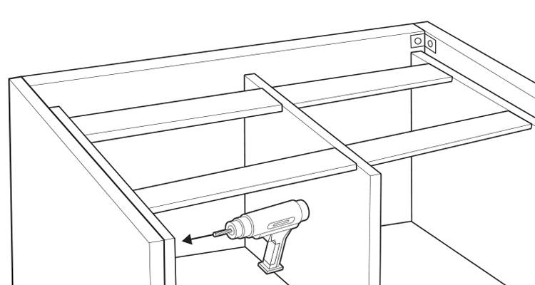 how to build a kitchen island step 12