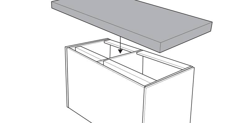 how to build a kitchen island step 15