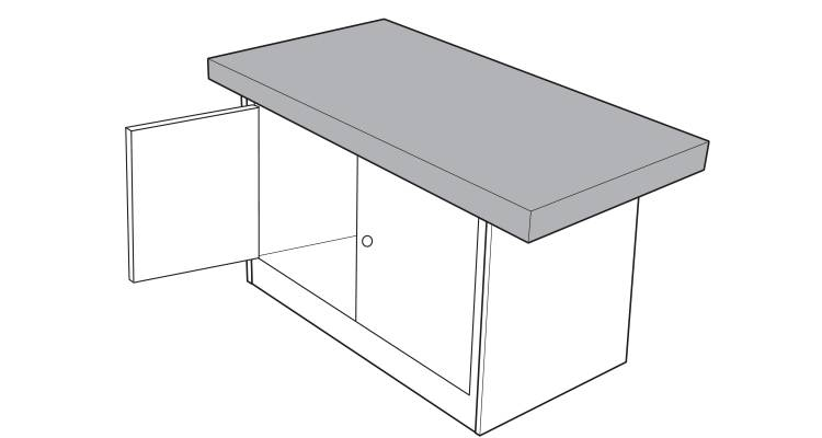 how to build a kitchen island step 17