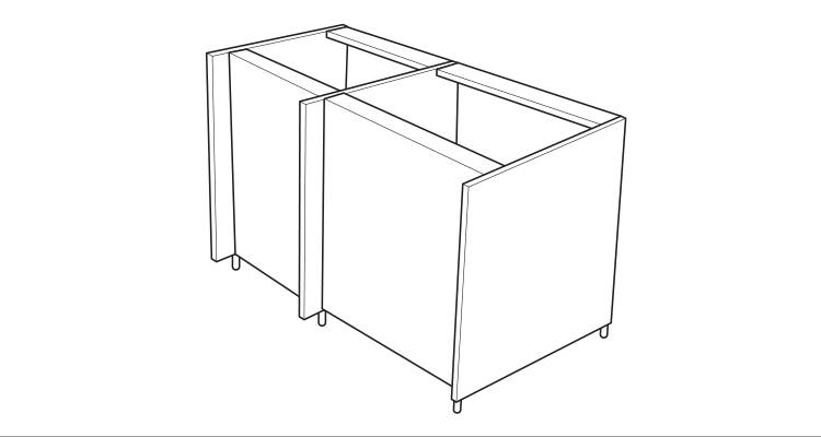 how to build a kitchen island step 2