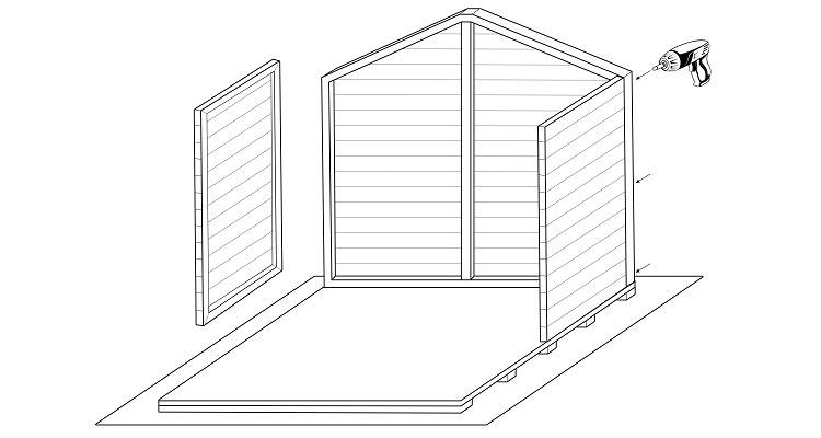 how to build a shed step 2