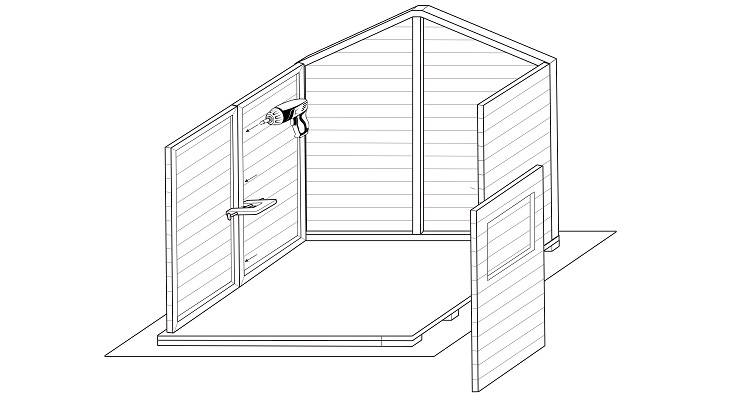 how to build a shed step 3
