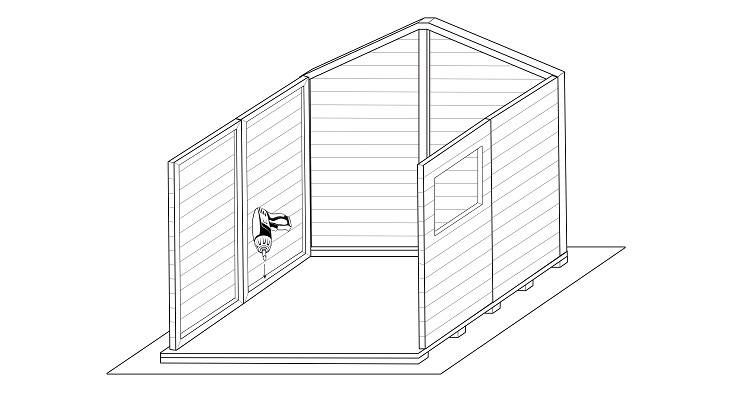 how to build a shed step 4