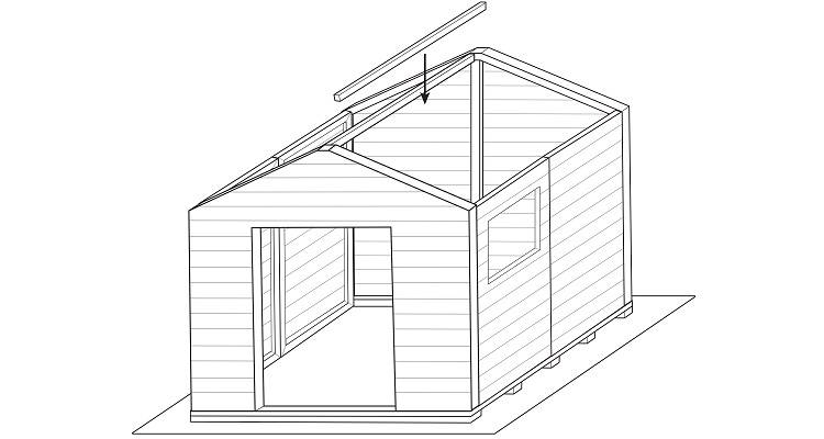 how to build a shed step 6