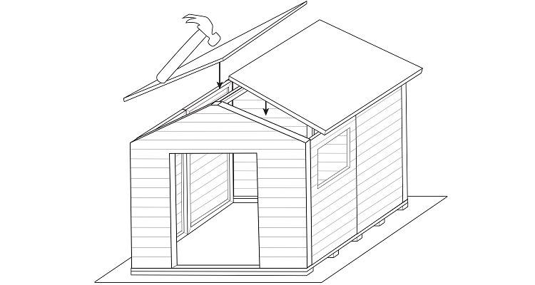 how to build a shed step 7