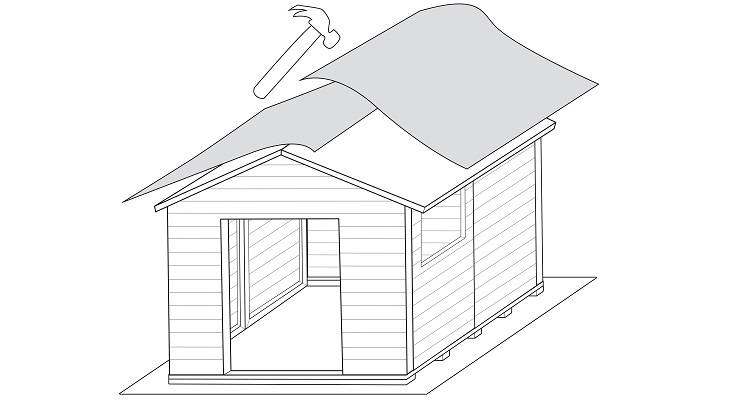 how to build a shed step 8