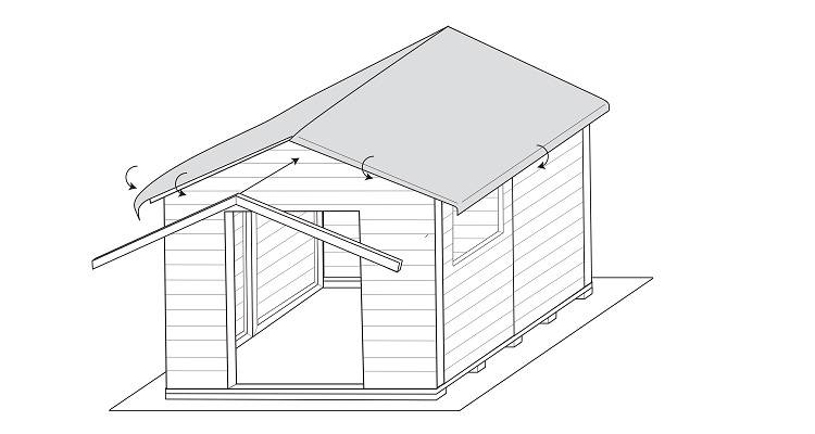 how to build a shed step 9