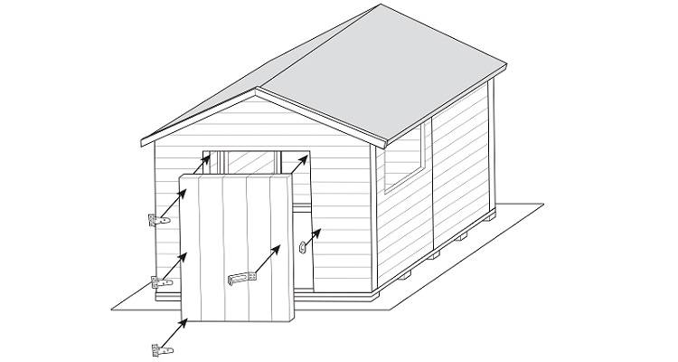 how to build a shed step 10