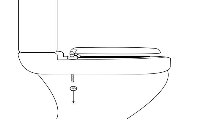 how to change a toilet seat step 1