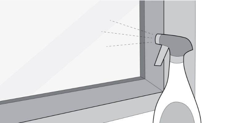 how to clean interior windows step 2