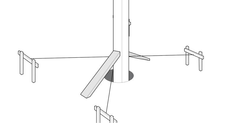 how to concrete in fence posts step 4