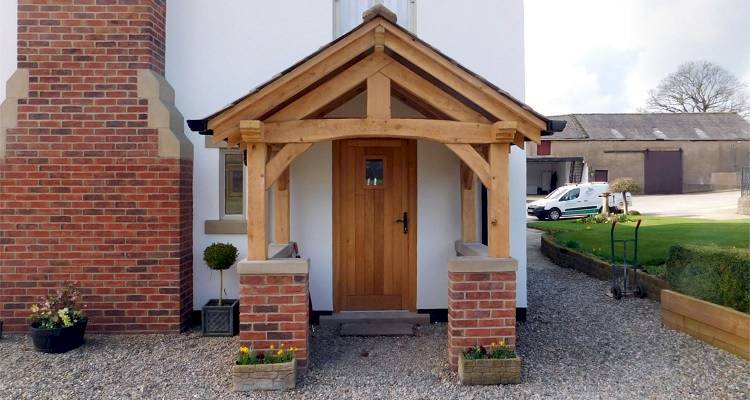 timber porch frame