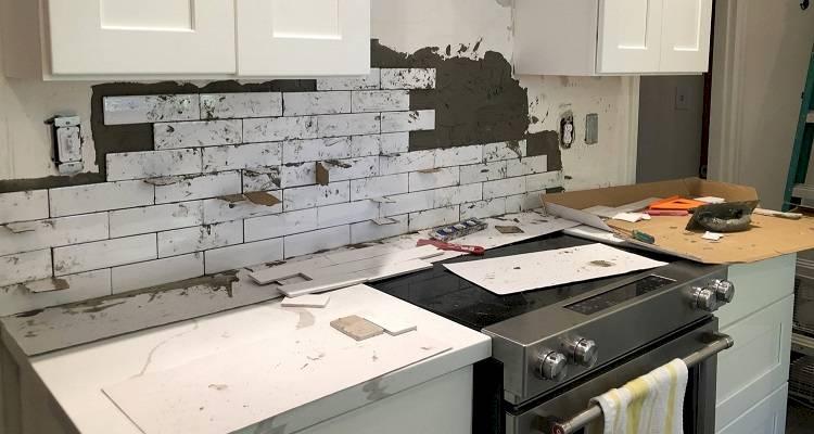 kitchen tiling installation