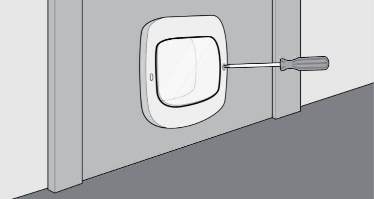 how to fit a cat flap step 7