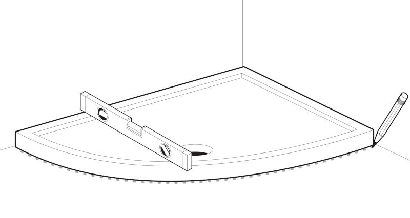 how to fit a shower tray step 1