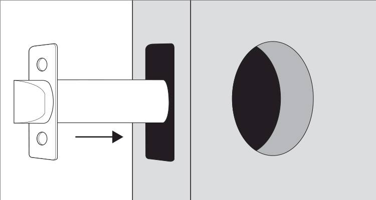 how to install a door handle step 1