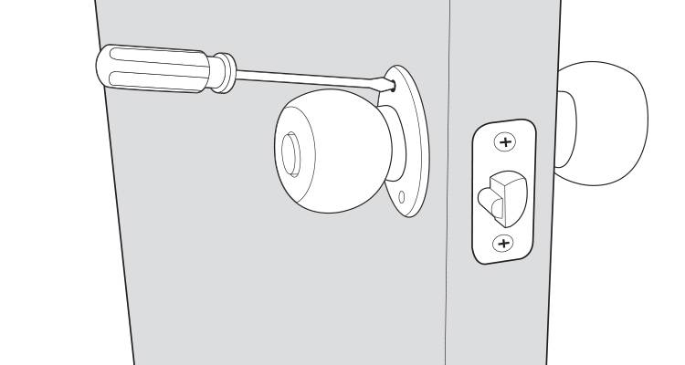 how to install a door handle step 3