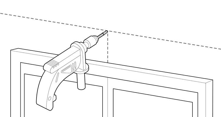 how to fit a curtain pole 4