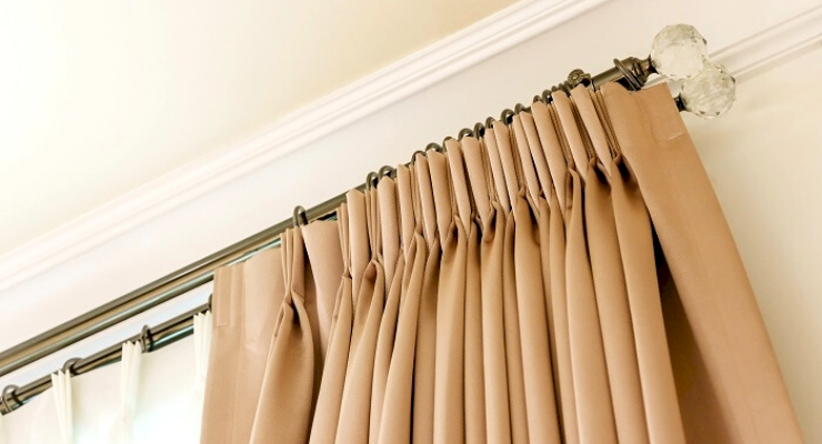 how to fit a curtain pole