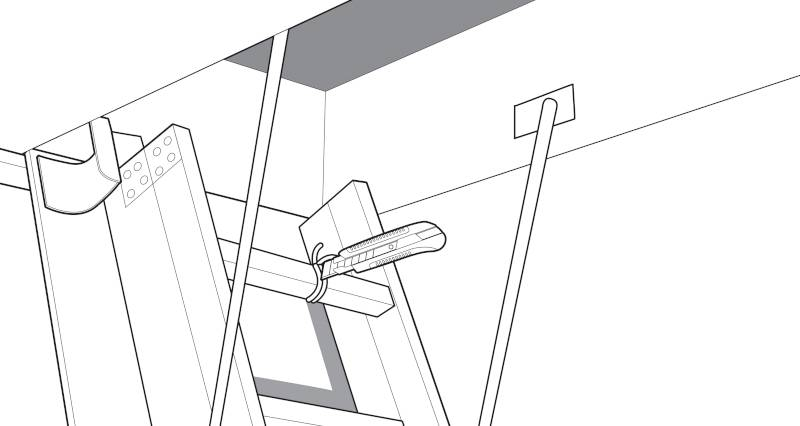 how to fit a loft ladder step 8