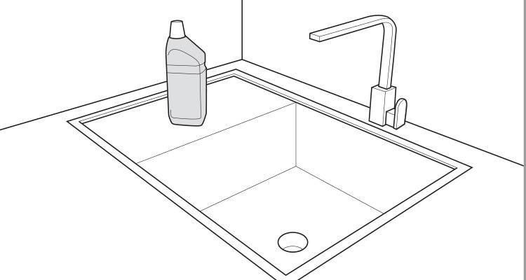 how to fix a blocked sink step 3