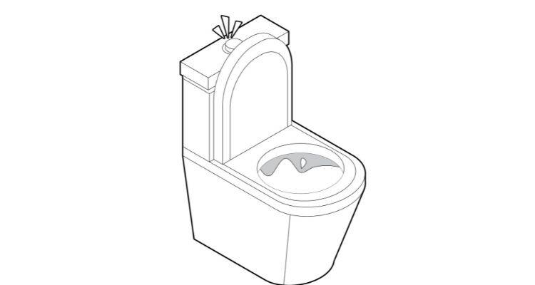 How to fix a toilet flush button step 4