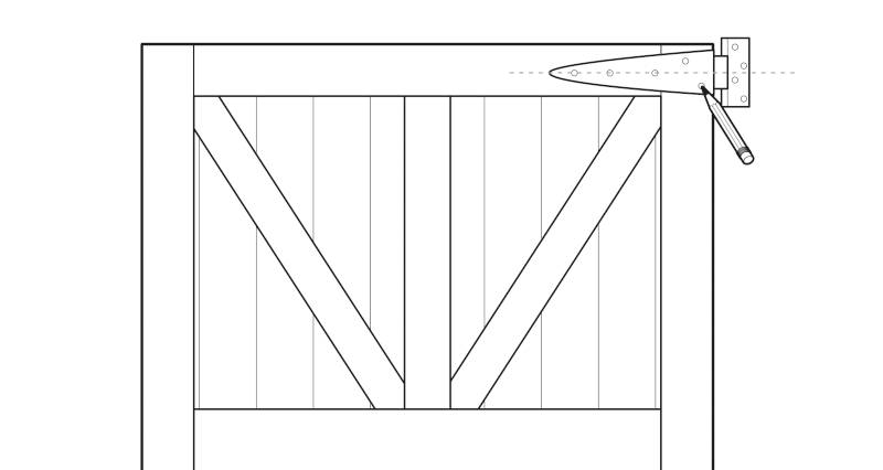 how to fit a garden gate step 2