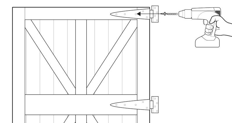how to fit a garden gate step 3