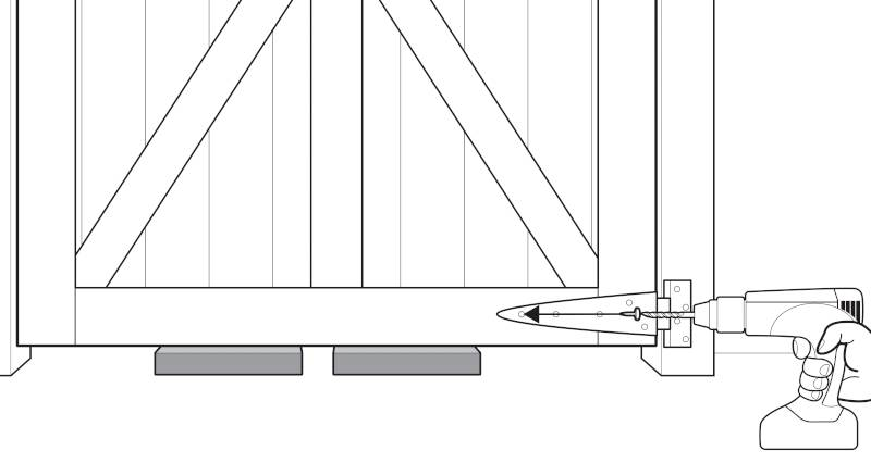 how to fit a garden gate step 6