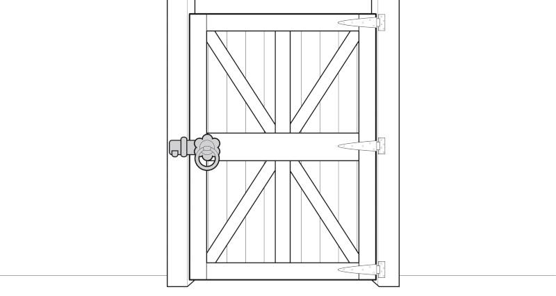 how to fit a garden gate step 8