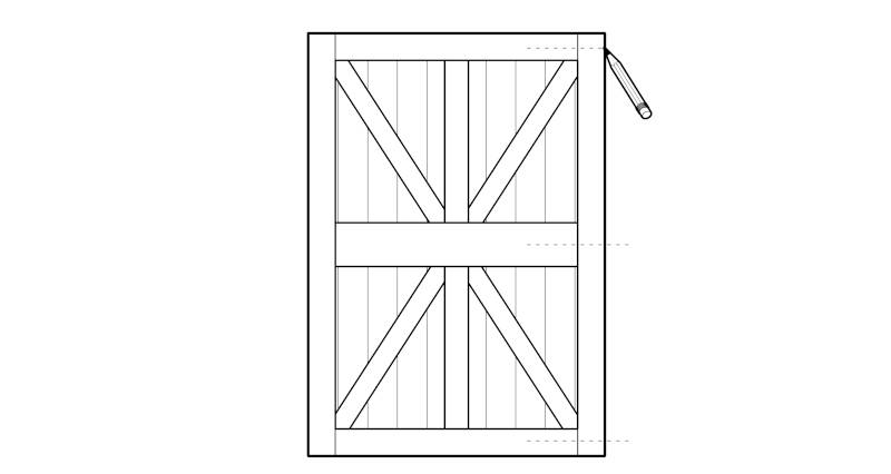 how to fit a garden gate step 1