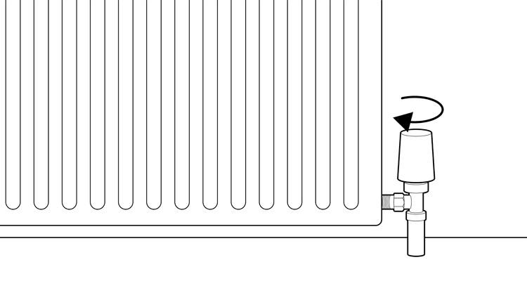 how to install a radiator step 11