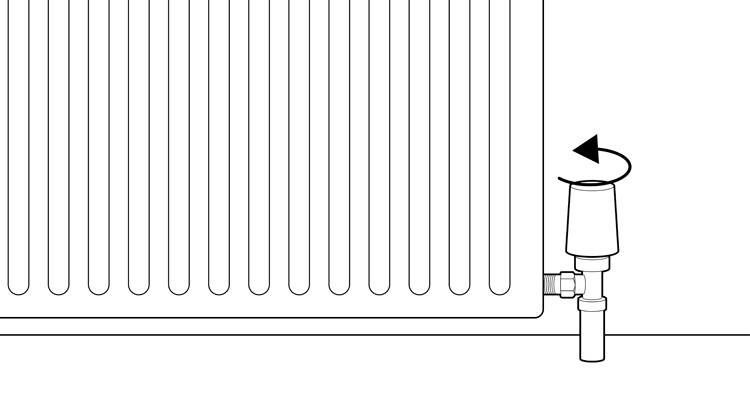 how to install a radiator step 13