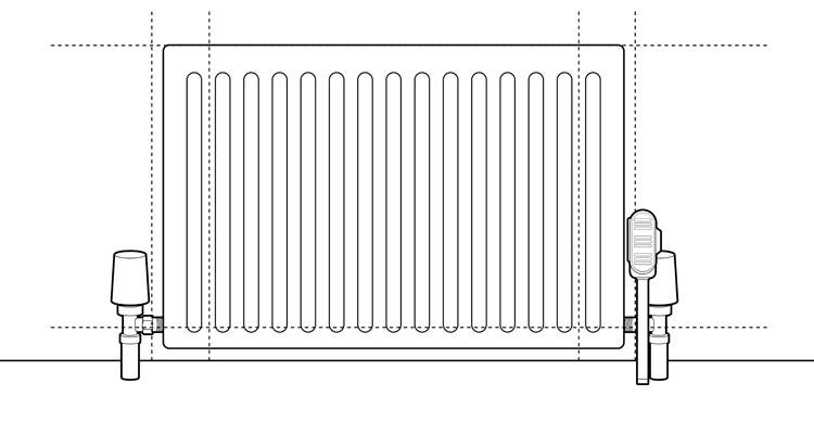 how to install a radiator step 5