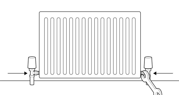 how to install a radiator step 8