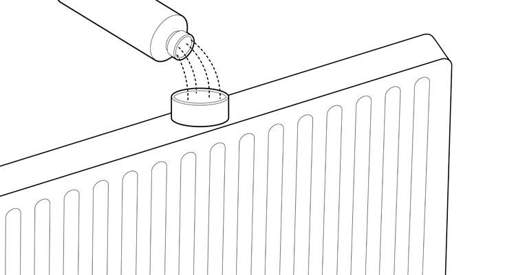 how to install a radiator step 9