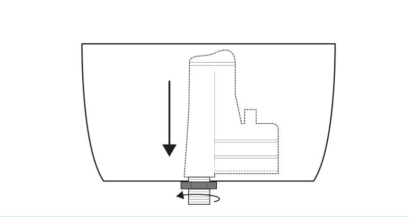 how to install a toilet pan and cistern step 1