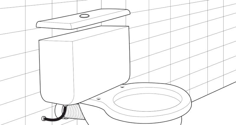 how to install a toilet pan and cistern step 10