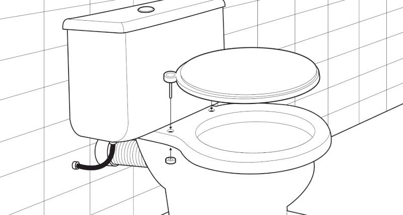 how to install a toilet pan and cistern step 11