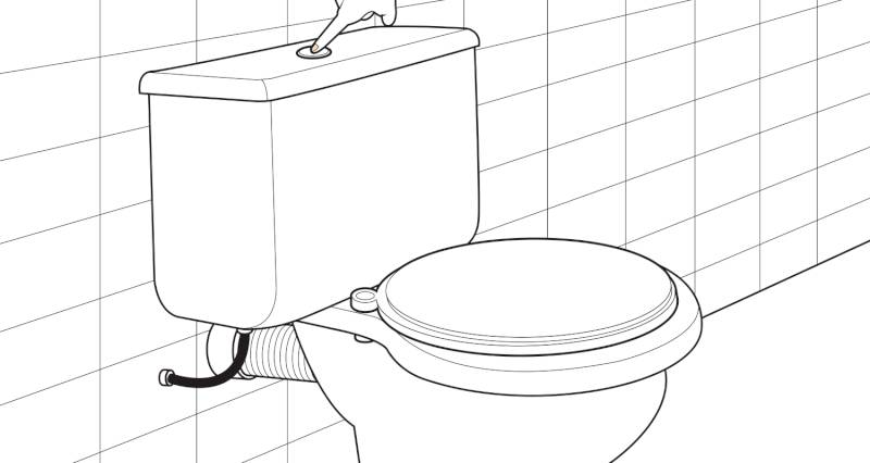 how to install a toilet pan and cistern step 12