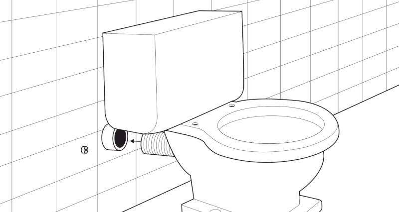 how to install a toilet pan and cistern step 5