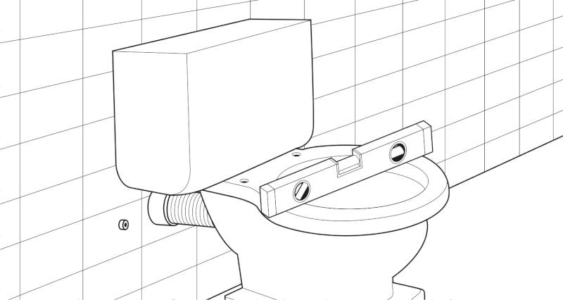 how to install a toilet pan and cistern step 6