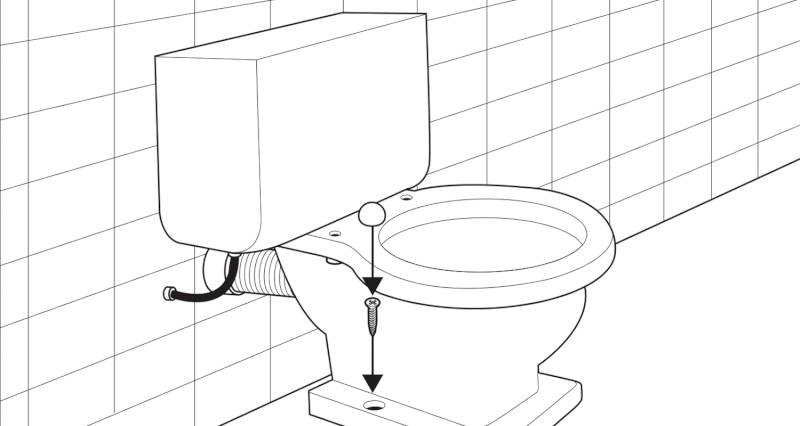 how to install a toilet pan and cistern step 8