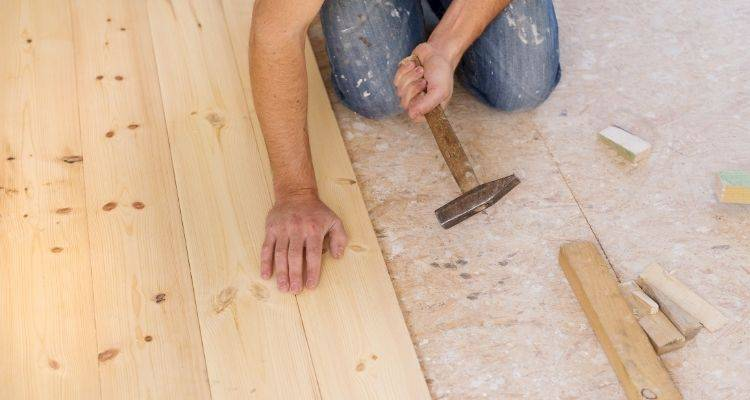 how to install a wooden floor