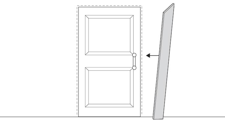how to put up architrave step 7