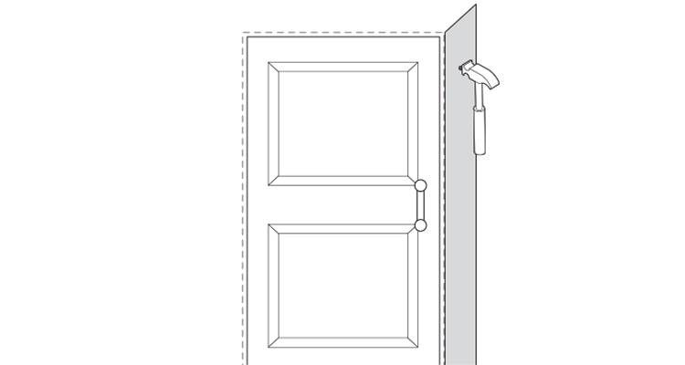 how to put up architrave step 8