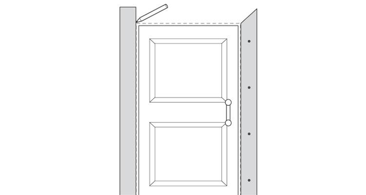 how to put up architrave step 9